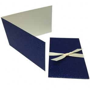 Glitter Navy Scratch Card Wallet Kit